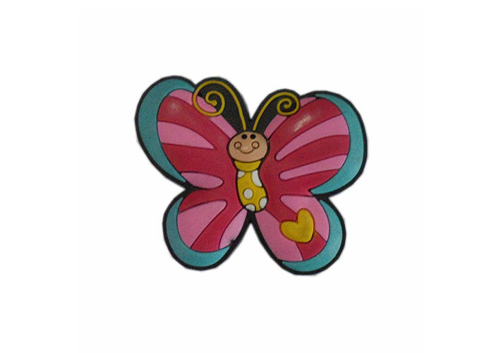 Baby Boy Children Door Knob , Butterfly Childrens Drawer Knobs Mooth Rubber Plastic
